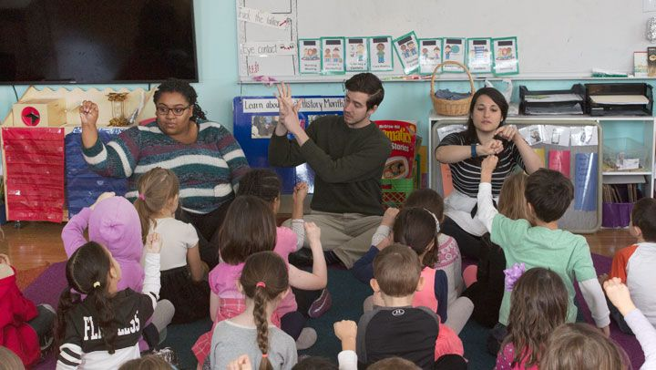Our school programs invite young audiences to the theater and bring theater tools into the classroom.