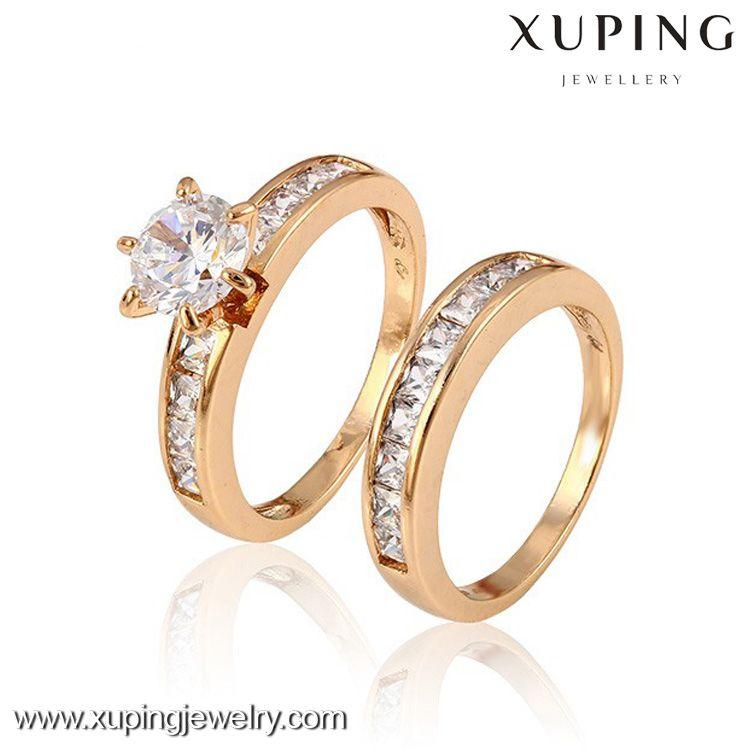 12888 Xuping Fashion Jewelry Fake Gold 18k Women Twins Rings