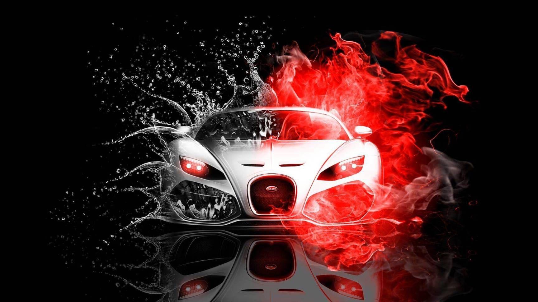 Bugatti Veyron Water Fire Wallpaper