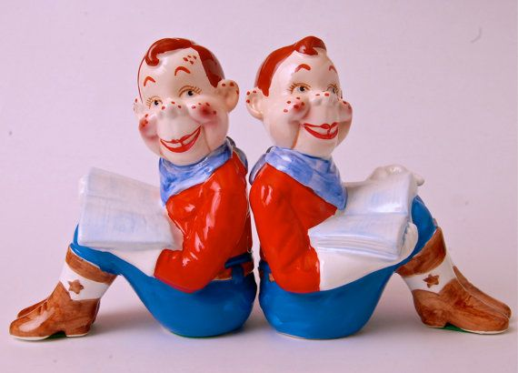Howdy Doody Rocking Chair Padded Garden Covers Bookends Ceramics Vintage Tv Star 1950 Mid Century Kitsch Display Collectable Pair ...