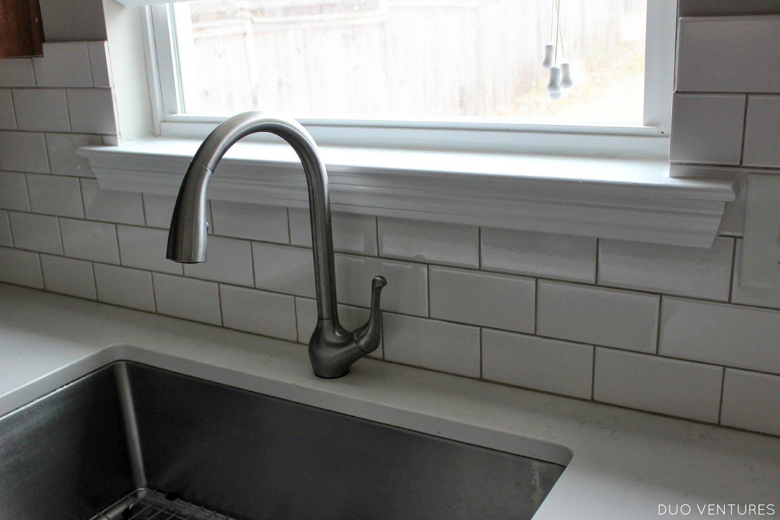 Kitchen Update Paint Touch Ups Window Sill A New Light