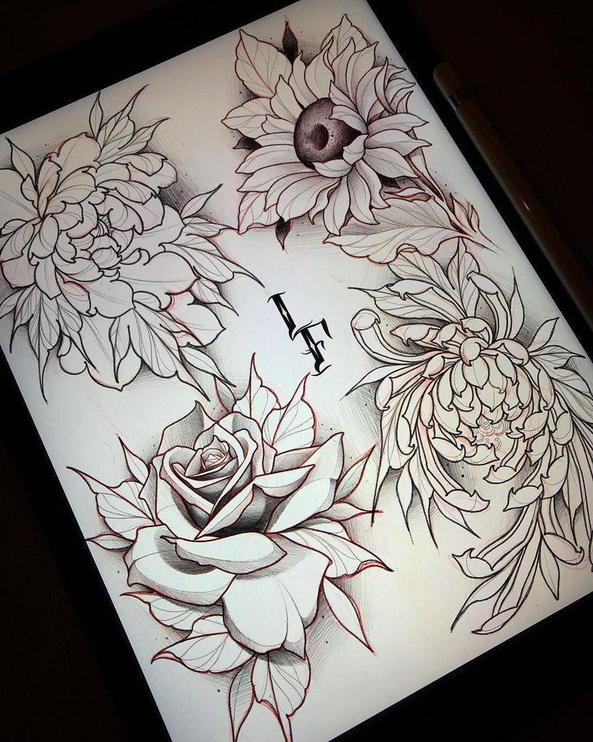 Dialogi Caveira Com Flor Inspiracao Para Tatuagem Desenhos