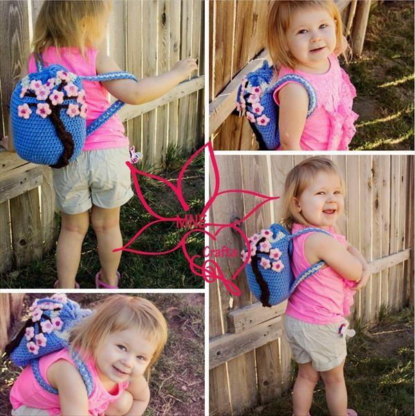 10 Free Kids Crochet Backpack Patterns Baby Princess Cherry