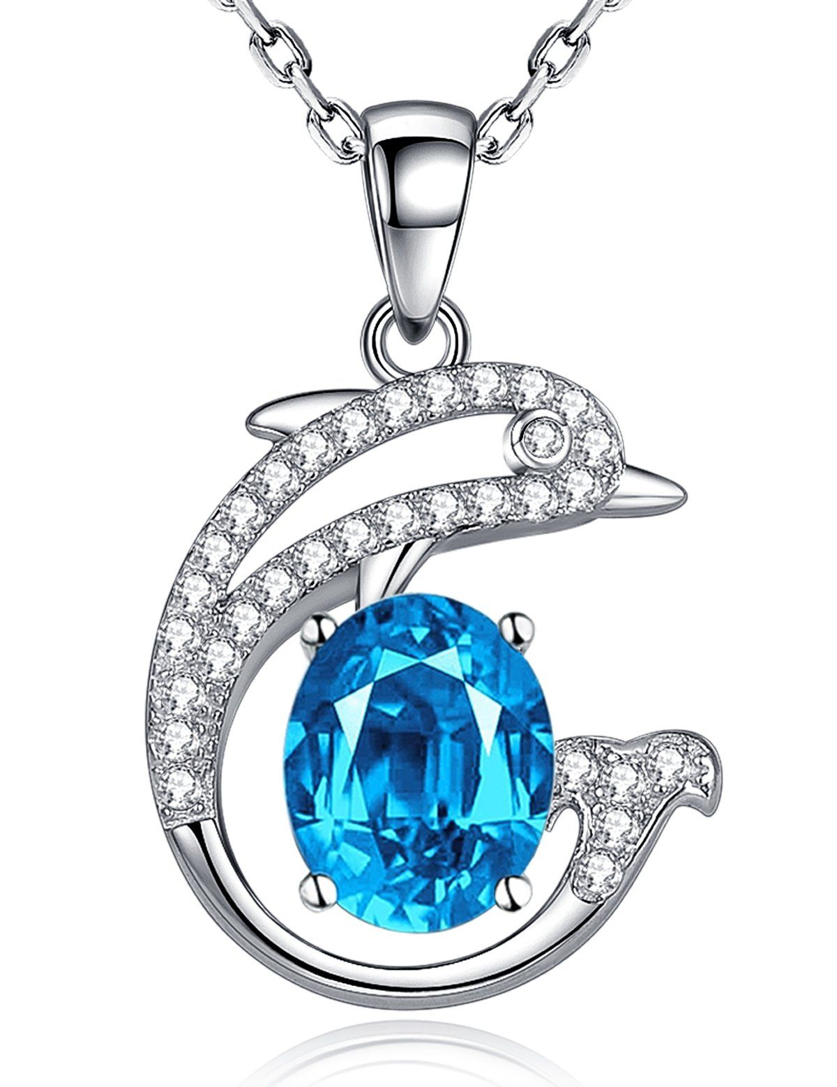 11th 24th Anniversary Gifts for Her Swiss Blue Topaz