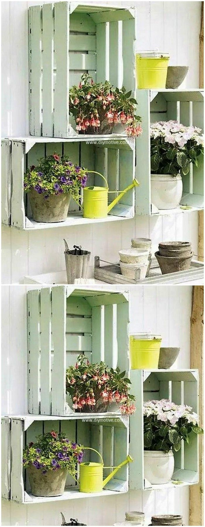 10 Amazing Wooden Pallet Fruit Crates Upcycling Ideas ... on Amazing Plant Stand Ideas  id=94557