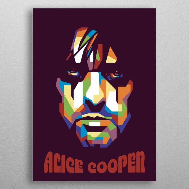 ALICE COOPER in pop art style metal poster   Displate thumbnail