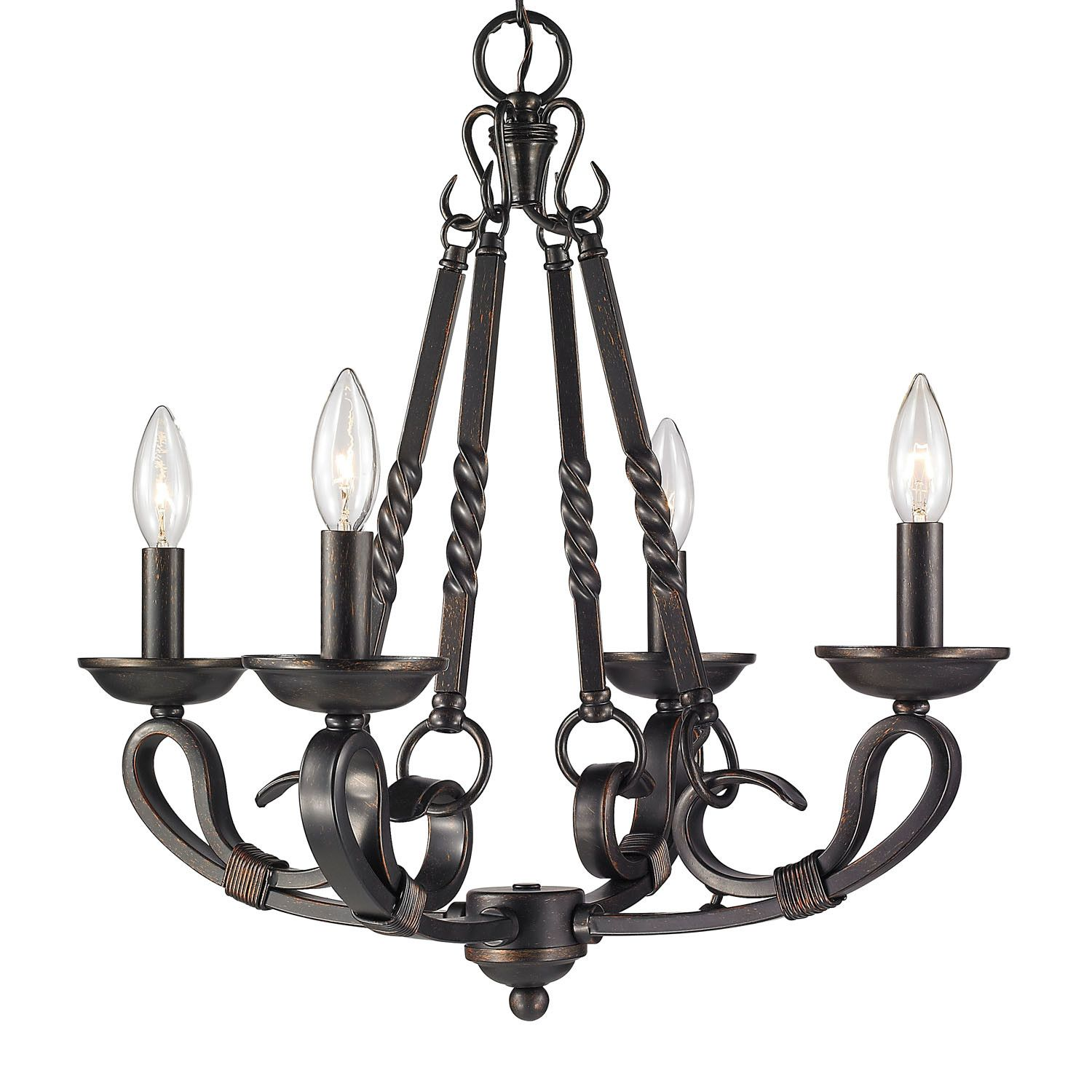 surprising Wildon Home Chandelier Part - 10: Wildon Home ® Nikki 4 Light Candle Chandelier