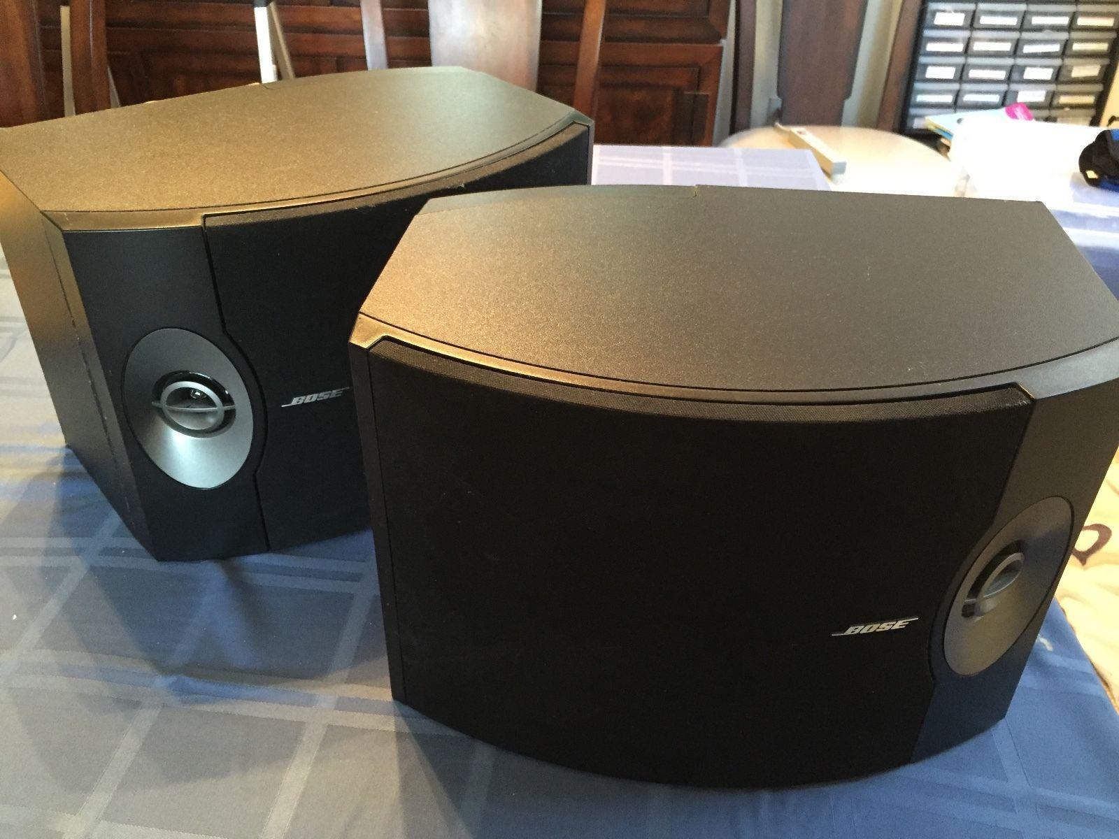 Bose 301 V Bookshelf Speakers Left Right Fully Tested Factory Renewed Working