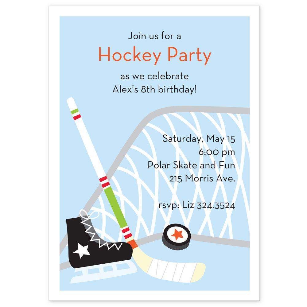 hockey birthday party invitation Google Search Hockey theme