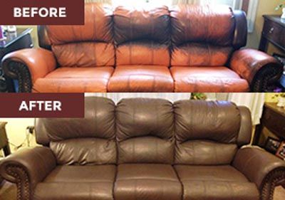 brown leather sofa color restoration seat cushion replacement covers hot tub cover protector great ideas pinterest furniture repair vinyl and dye kit