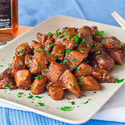 Bourbon Chicken - easy and delicious. No more fast food bourbon chicken, make your own at home.