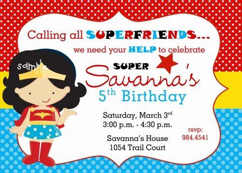 Wonder Woman Superhero Inspired Girl Birthday Party Digital