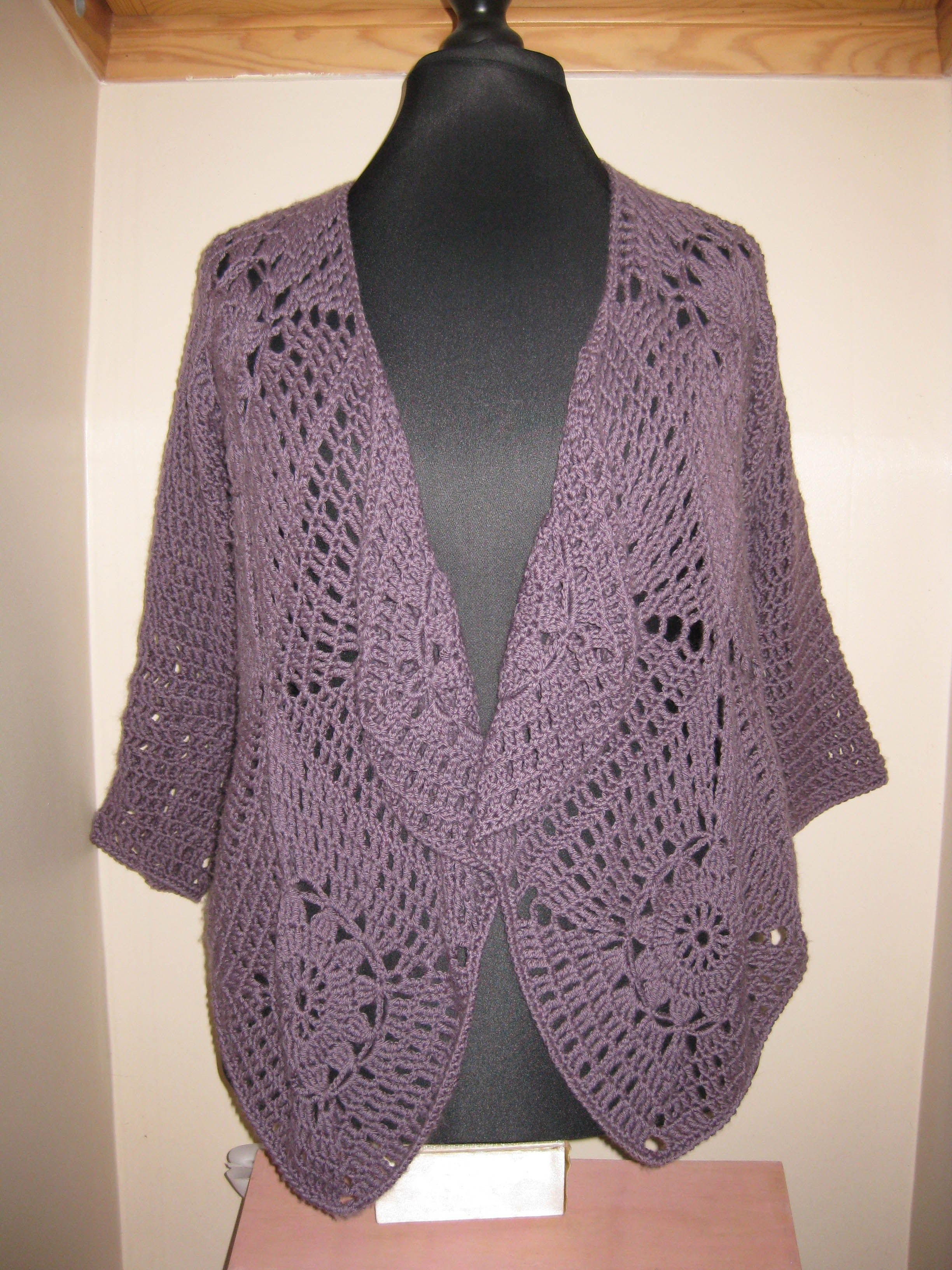 Square-motif-waterfall-cardigan | Crochet Sweaters | Pinterest ...