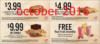 picture regarding Smoothie King Printable Coupons identified as Totally free Printable Discount coupons: Burger King Coupon codes Coupon codes Totally free