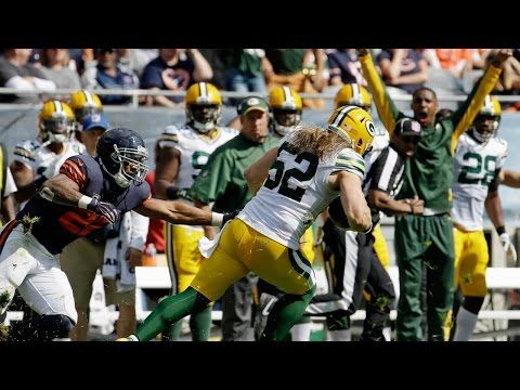 Packers Lb Clay Matthews Picks Off Jay Cutler Packers Vs Bears Nfl Clay Matthews Jay Cutler Nfl