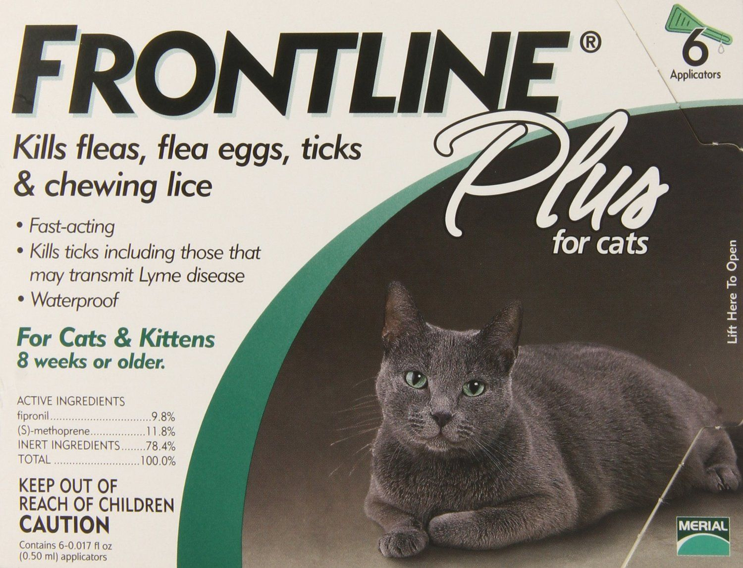 Amazon Com Merial Frontline Plus Flea And Tick Control For Cats And Kittens 6 Doses Pet Flea Drops Pe Cat Fleas Cats And Kittens Frontline Plus For Cats