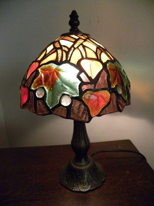 Online veilinghuis Catawiki: Tiffany lampje glas in lood - 2e helft 20e eeuw