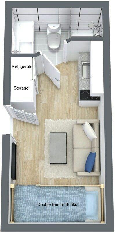 Pequeno Studio. Container HäuserGrundrisseGartenlaubeBauwagenWohnmobilMappenVersandbehälter  HäuserContainerhäuserTransportbehälter