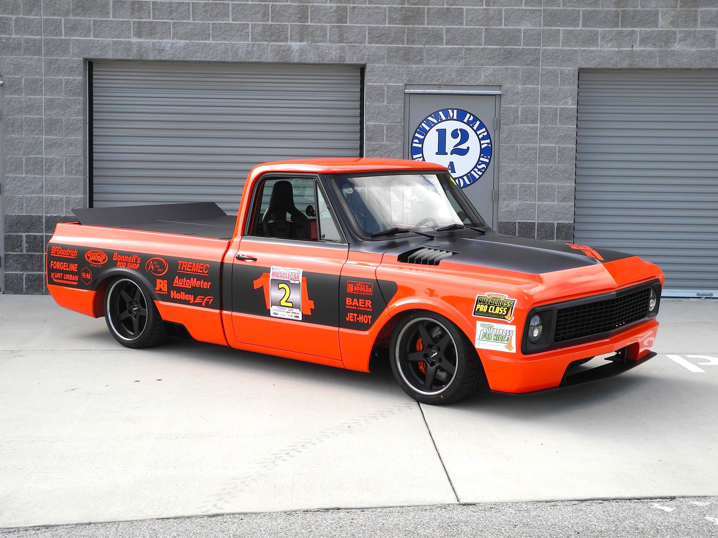 Bob bertelsen s orange rush 69 chevy c 10 pickup features a 648hp