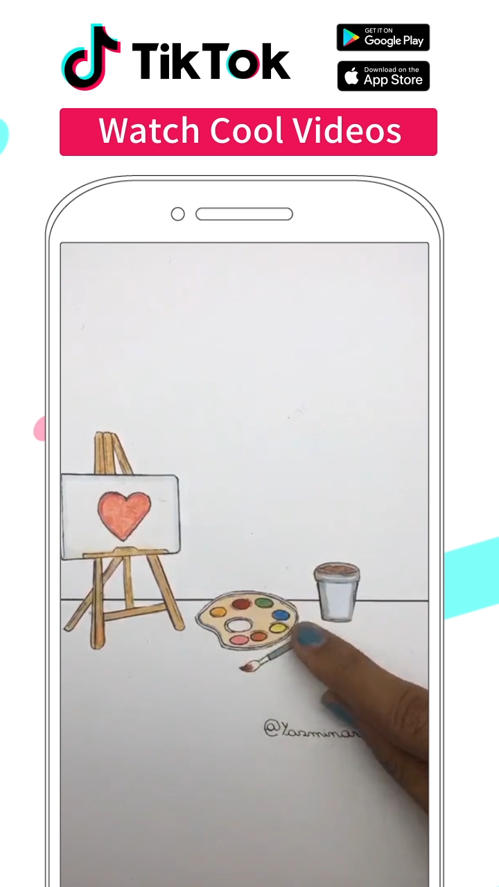 Download and watch more drawing videos made by creators worldwide and share your creatives with