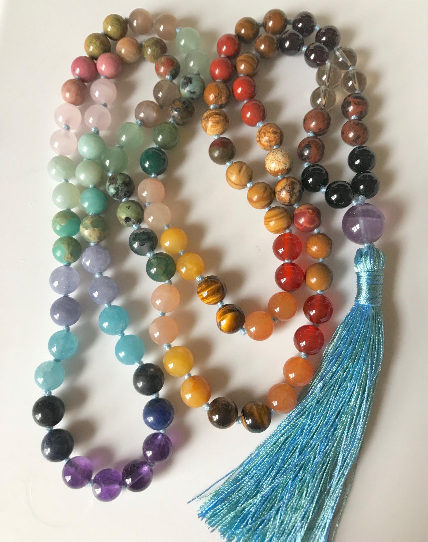 Chakra Mala Beads Multi Gemstone All