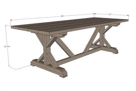 Fancy X Farmhouse Table Farmhouse Table Plans Diy Farmhouse