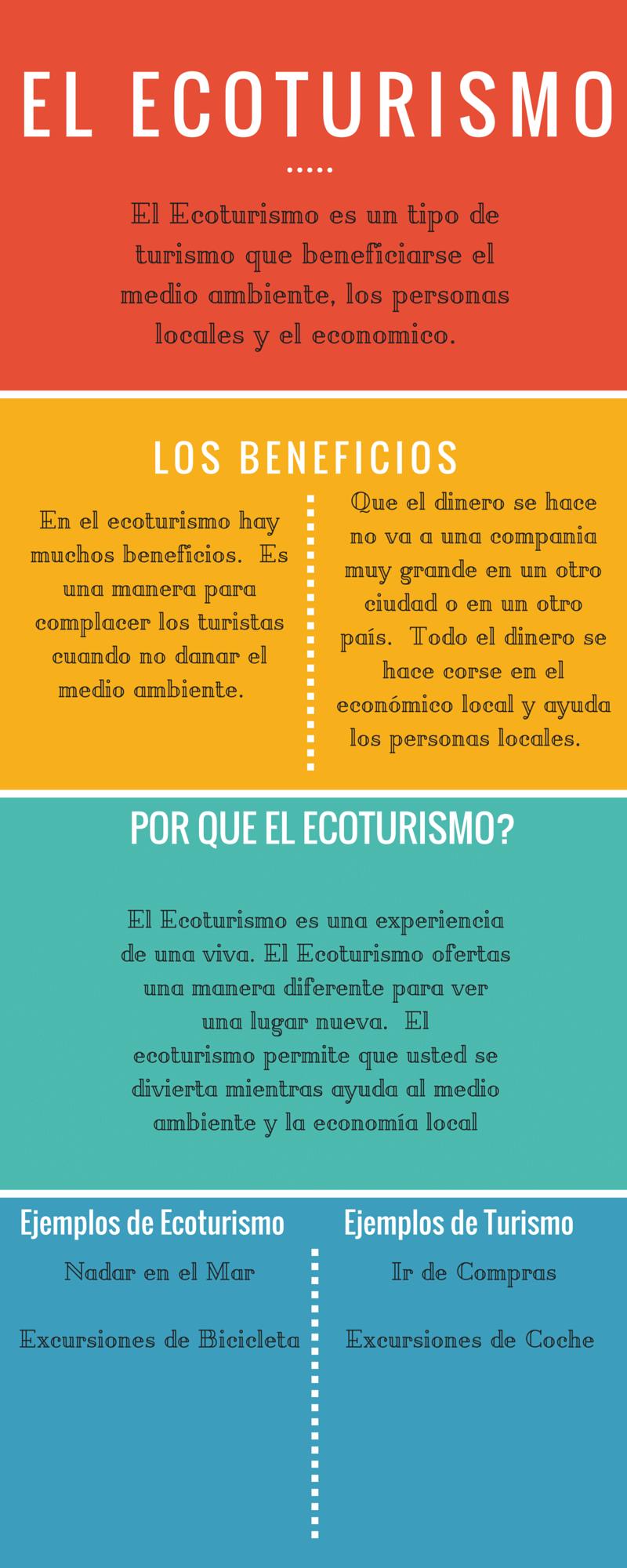 El ecoturismo El Ecoturismo es un tipo de turismo que beneficiarse ...