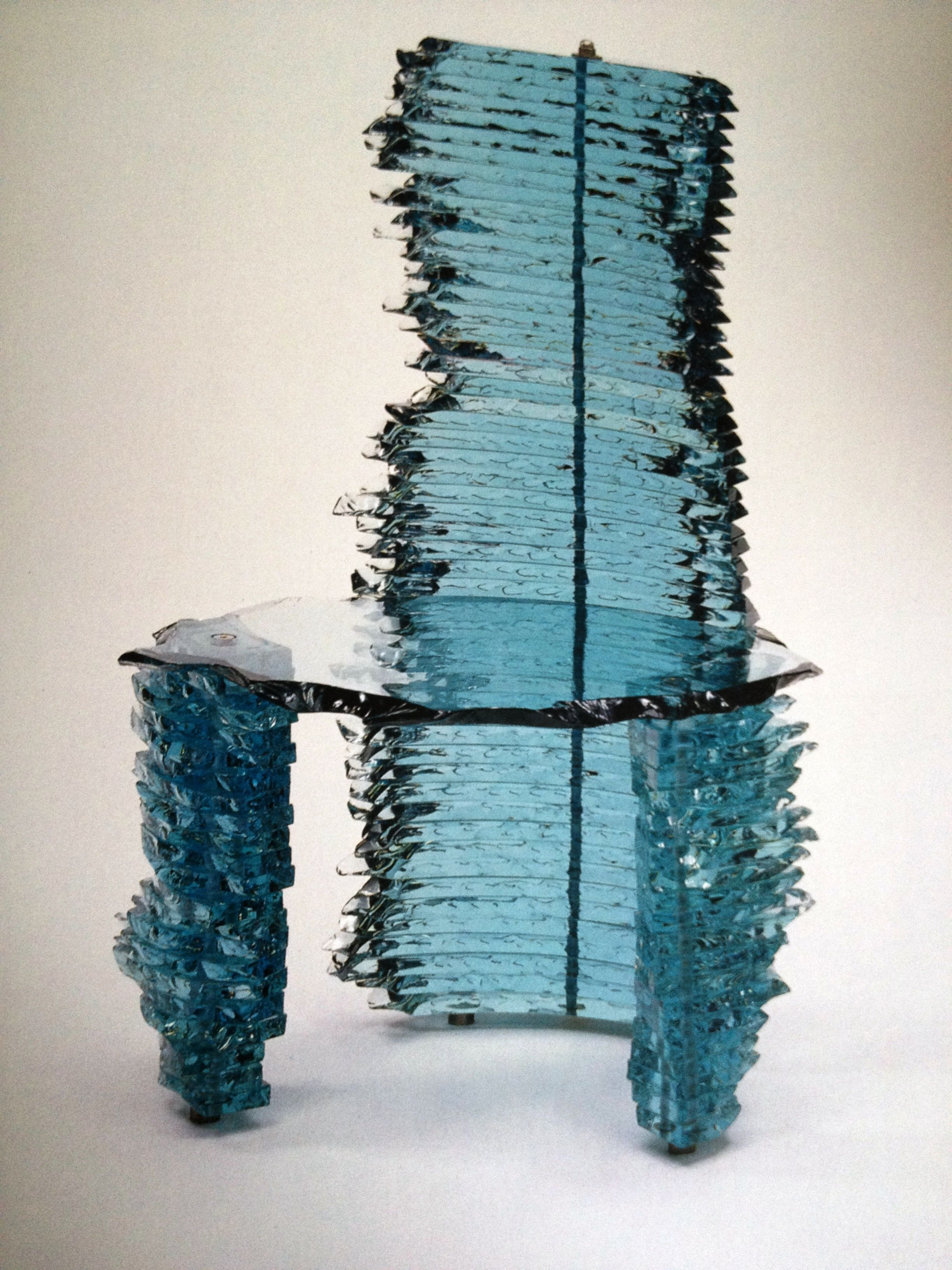 Glass Chair - Danny Lane , London . 1993