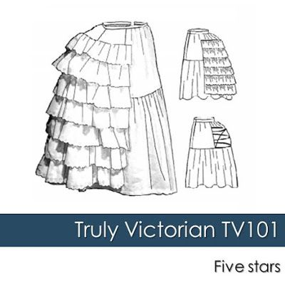 Petticoat with Wire Bustle Schnittmuster Truly Victorian  TV 101