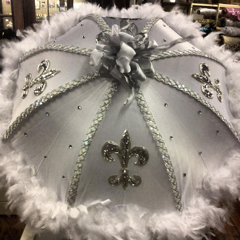 Bridal Second Line Umbrellas. $50.00+, via Etsy.