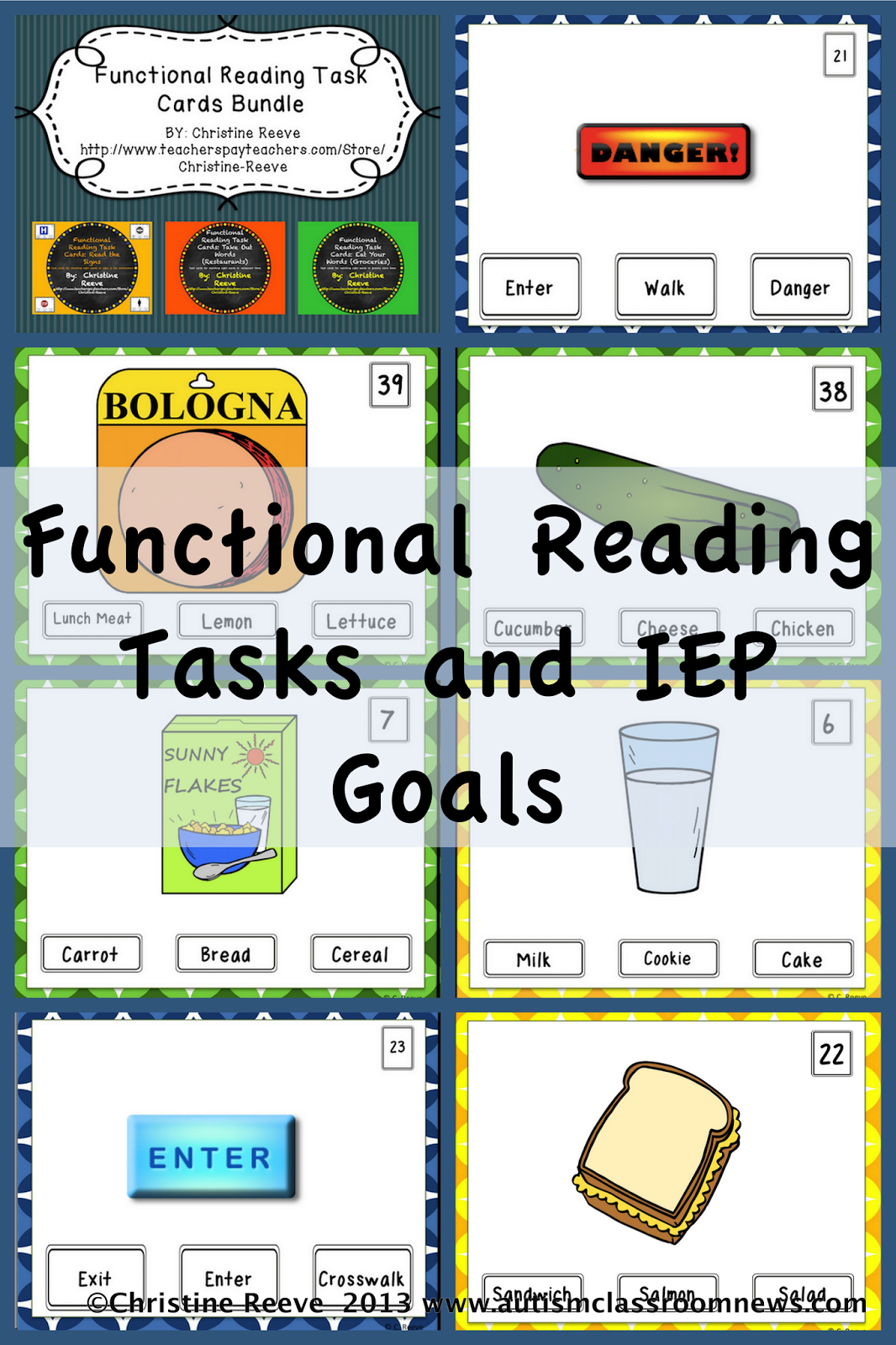 Worksheets Functional Reading Worksheets functional reading tasks and iep goals skills spectrum goals