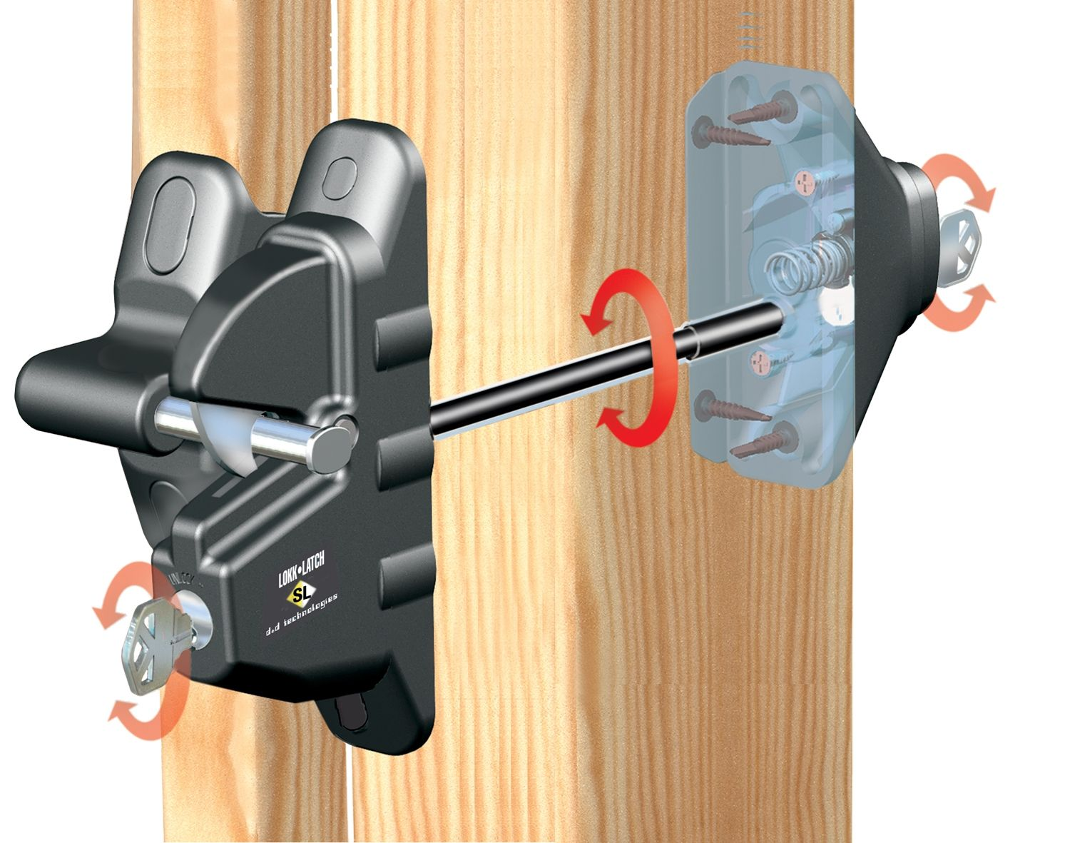 Lokk latch mechanism clamps latches pinterest dog rooms