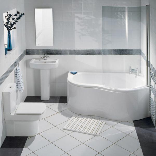 schönes-badezimmer-mit-einer-eckbadewanne | Wohnung Ideen ...