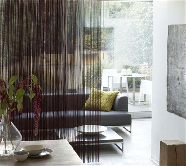 Vorhang Raumteiler. Inspiration Für Dezente Raumtrennung Wohnzimmer