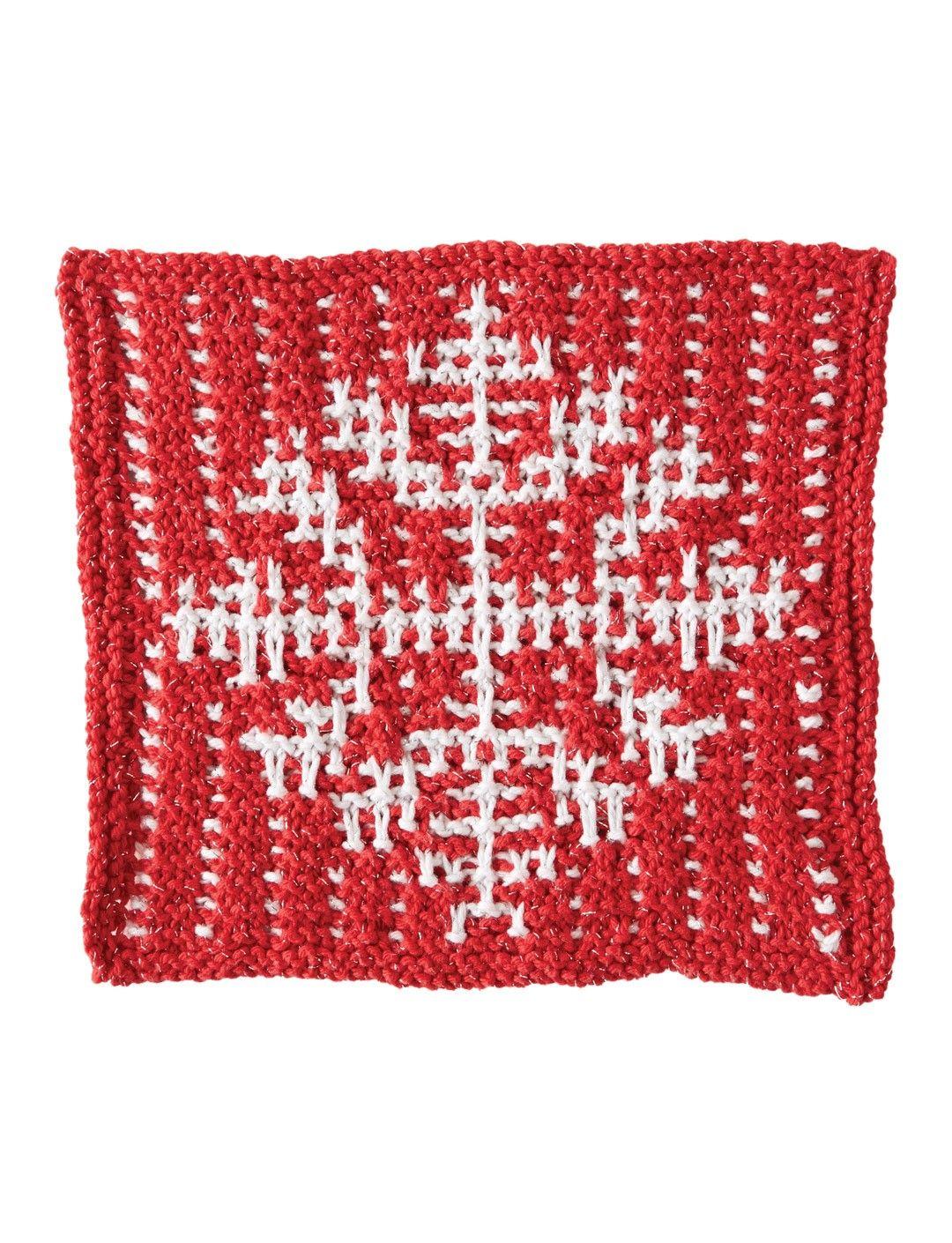 Yarnspirations.com - Bernat Mosaic Snowflake Dishcloth - Patterns ...