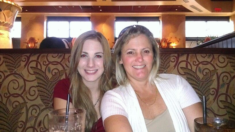 Me and my oldest daughter having dinner at The Cheesecake Factory. 2012