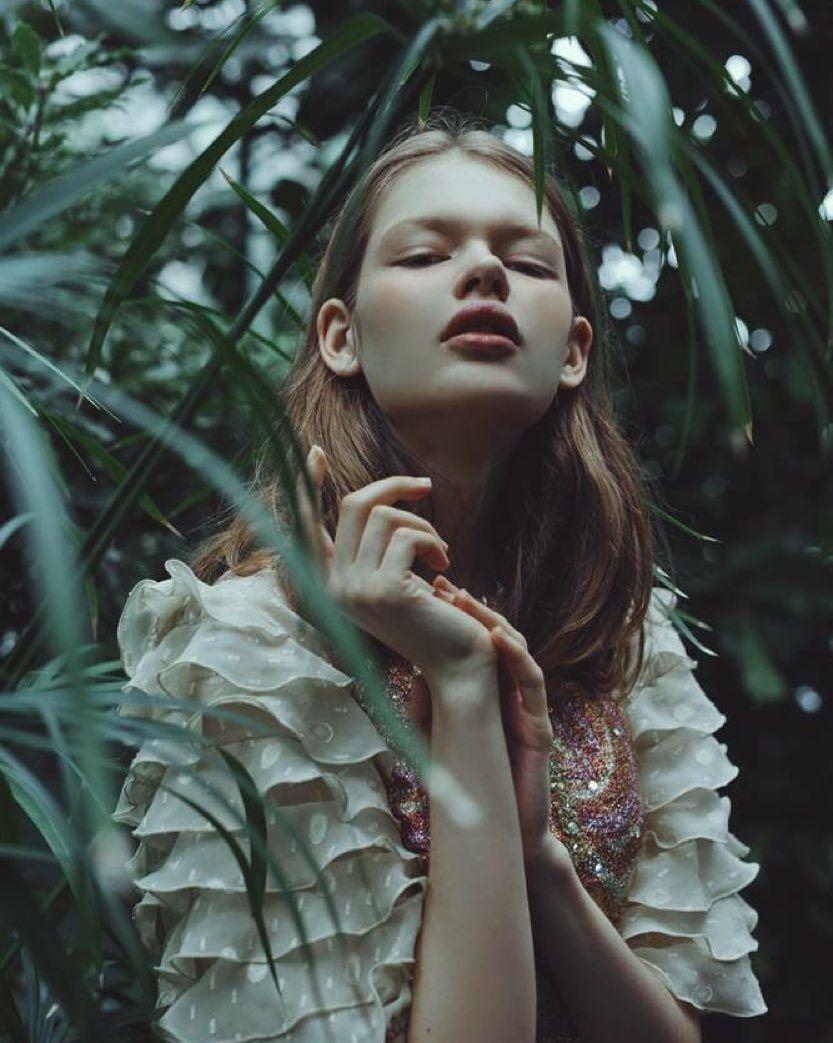 "Beautiful @sveta_mat in ""secret garden""; make up: @camillelutzmakeup  styling: @andreaetlou by martabevacqua"