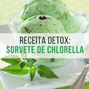 Detox de páscoa Sorvete de chlorella
