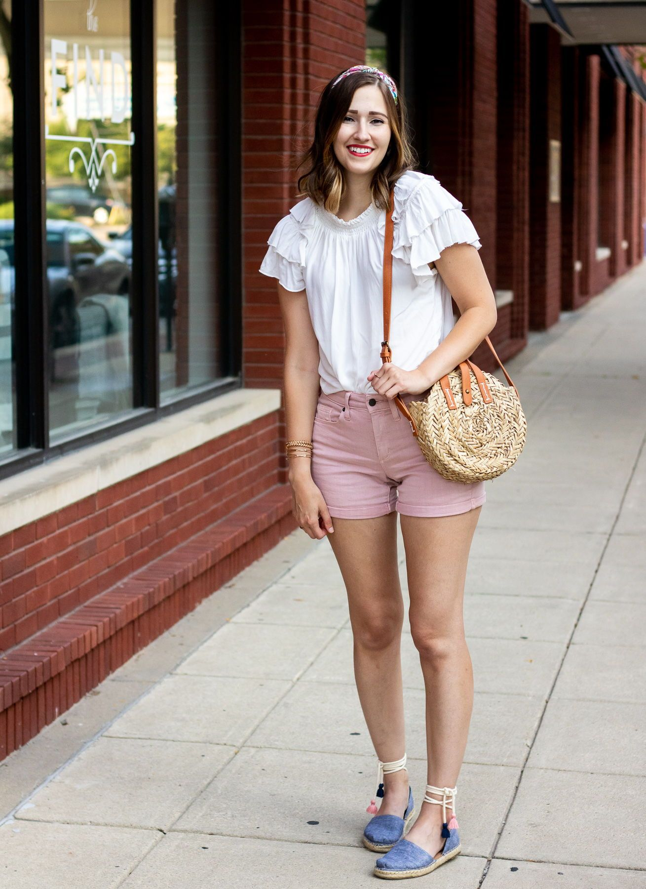 dc8f7f783e blush pink high rise midi shorts - universal thread target