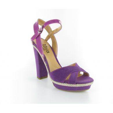 Sandalo in tessuto sintetico by Alisia #scarpe #donna #italianshoes