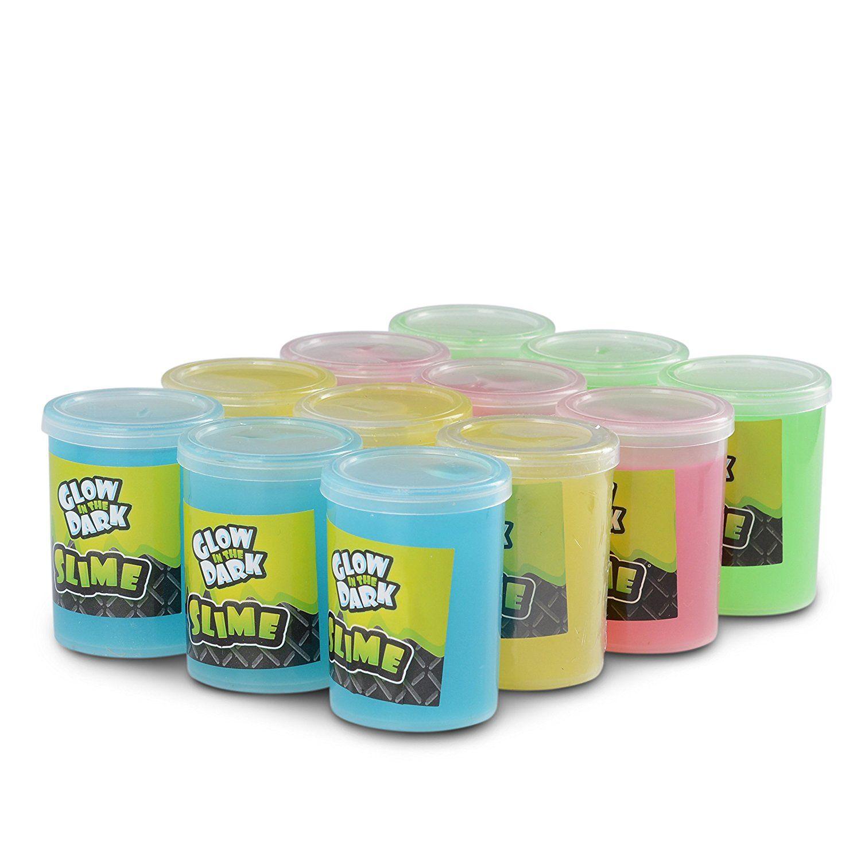 Amazon Com Katzco Glow In The Dark Slime 12 Pack Assorted