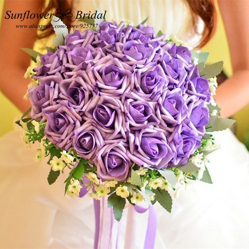 Find More Wedding Bouquets Information About Best Selling Romantic Silk Artificial Rose Flowers