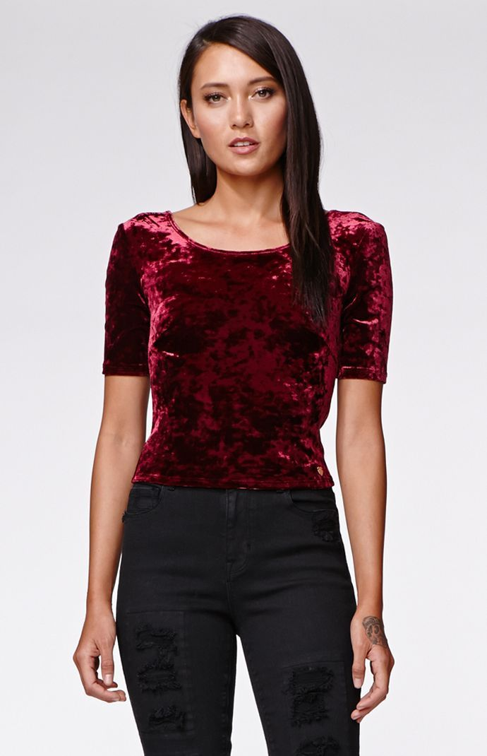 The women's Kendall & Kylie Lace Up Back Top for PacSun and PacSun.com  features