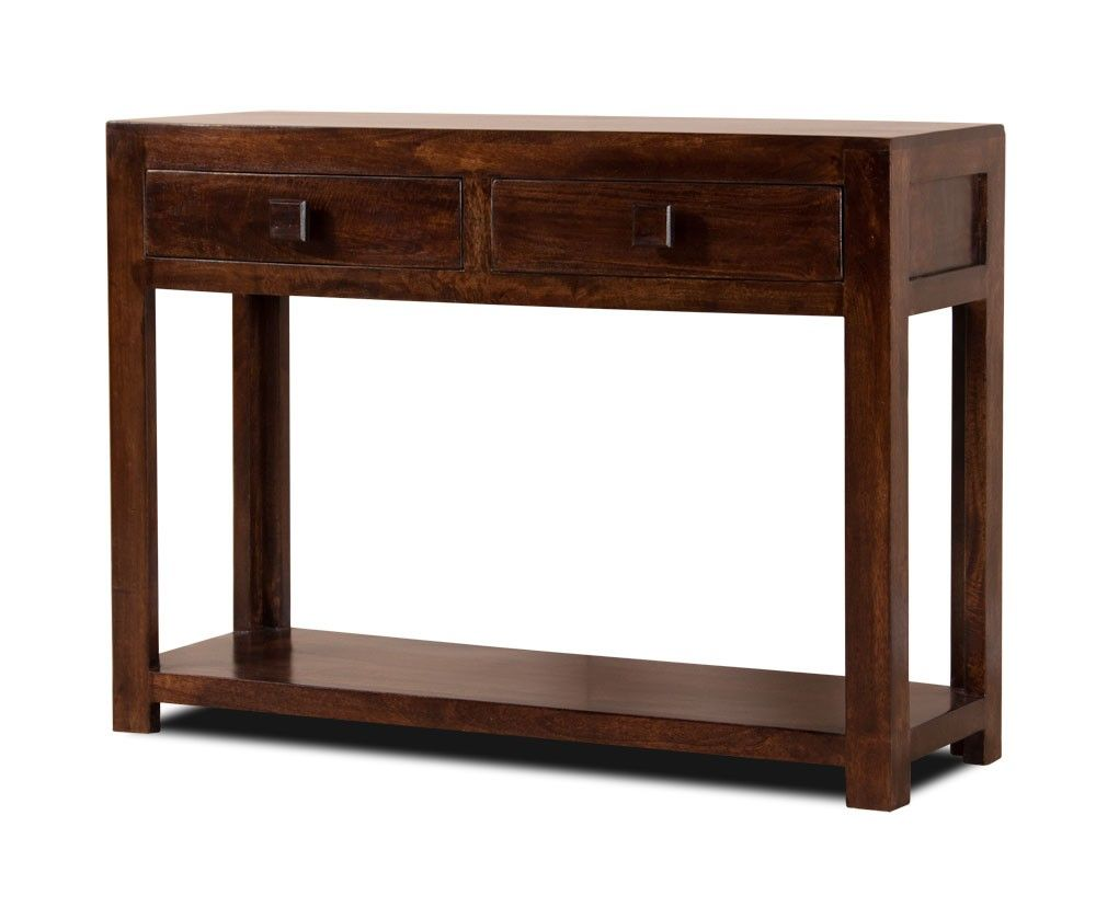 Solid Wood Table W Wine Rack Satara Sheesham Indian Furniture Wood Console Table Wooden Console Table Wood Console