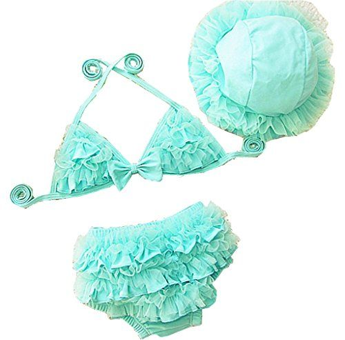 Bywen Girls Swimwear Bikini With Hat Set Of 3 6 12 Month Https Www Amazon Com Dp B01cso10m2 Ref Girls Swimwear Bikini Kids Swimwear Girls Swimwear Girls