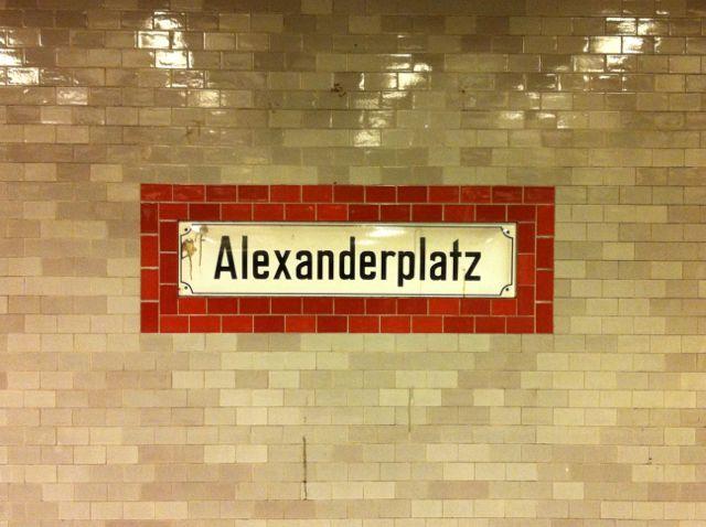 Alexanderplatz U Bahn Sign In 2020 Berlin Typography Signage
