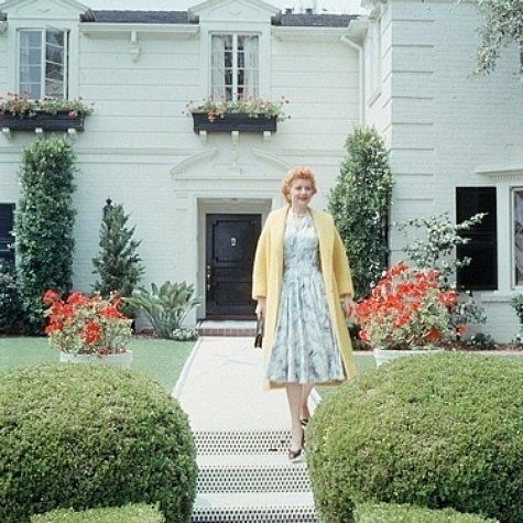 Lucille Ball In Front Of Her Beverly Hills Home Living