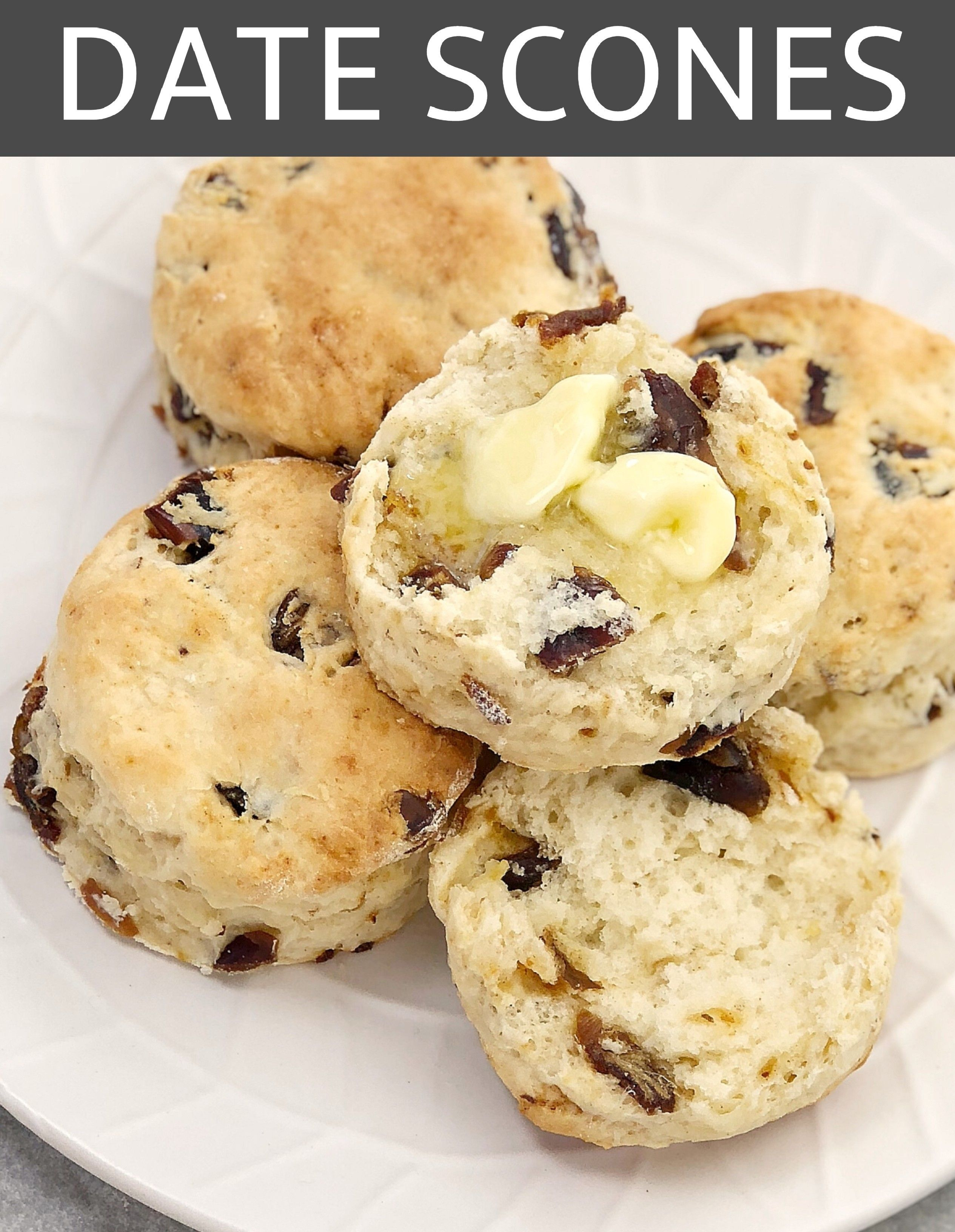 Easy Date Scones Chef Not Required Recipe In 2020 Easy Baking Recipes Date Scones Tasty Baking