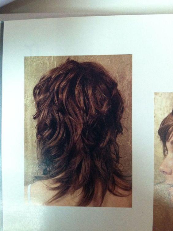 long curly layered haircuts back view wavy shag haircut