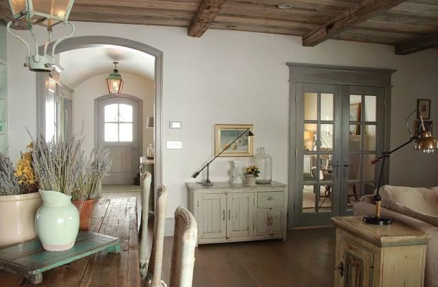 Whitish Walls Grey Trim And Doors